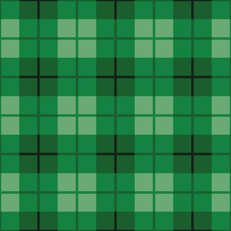 Sin costura patrón de cuadros escoceses en tonos de verde. Ilustración de vector