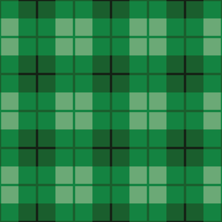 Seamless straight plaid pattern in shades of green.