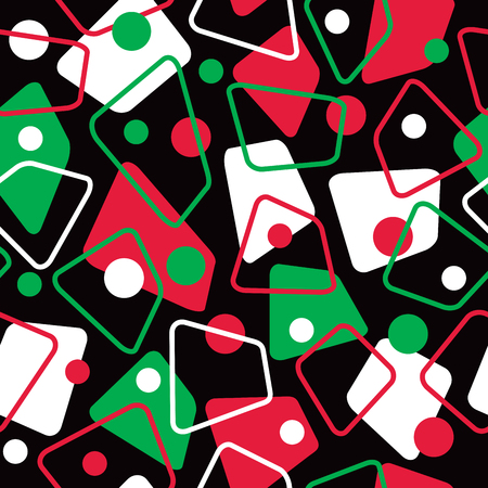 Retro 1950s pattern in holiday colors repeats seamlessly. Ilustrace