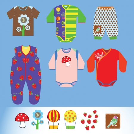 romper: Clothing for babies vetornye objects