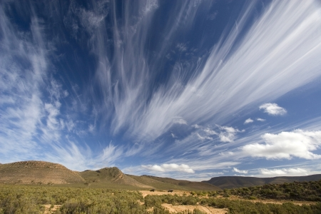 Spectacular clouds over South African landscape photo