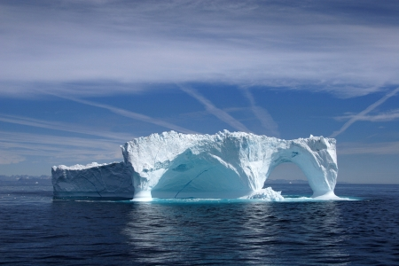 Iceberg off the coast of Greenland, Atlantic Ocean