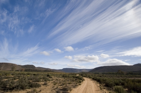 south africa soil: South Africa Landscape with sweeping clouds