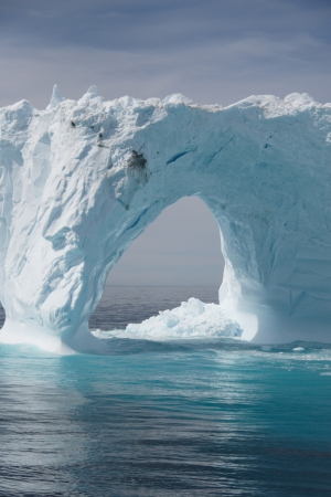 Iceberg off the coast of Greenland  Stock Photo