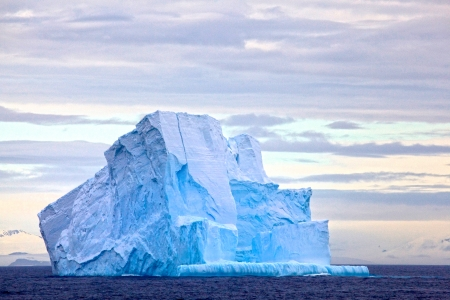 polar climate: Huge Iceberg floating in the Drake Passage, Antarctica Stock Photo
