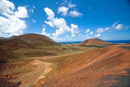 ascension: Interior landscape, Ascension Island Stock Photo