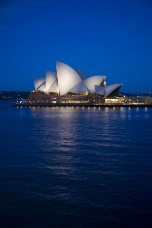 Sydney Opera House at twilight, New South Wales, Australia Editorial