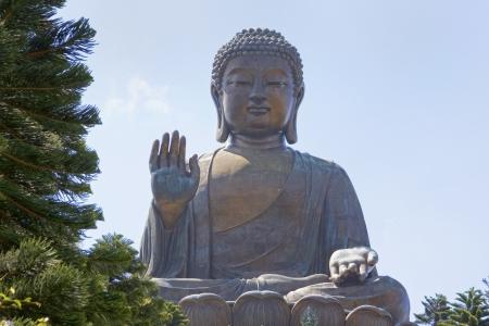 lantau: Tian Tan Buddha gigante su Lantau Island, Hong Kong, Cina