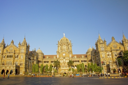 terminus: The Chhatrapati Shivaji Terminus which was formally know as Victoria Terminus, Mumbai, India