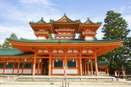 The  Ancient Shinto Shimogamo Shrine  also known as Shimogamo-jinja  in Kyoto, Japan