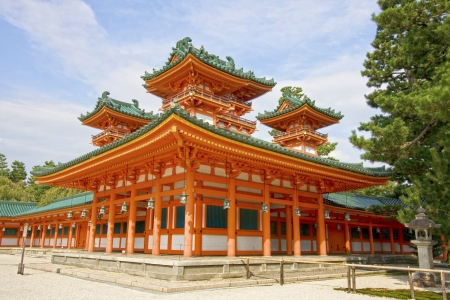 The UNESCO Ancient Shinto Shimogamo Shrine  also known as Shimogamo-jinja  in Kyoto, Japan