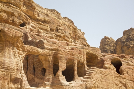 Dwellings carved into the rocks, Petra, Jordan