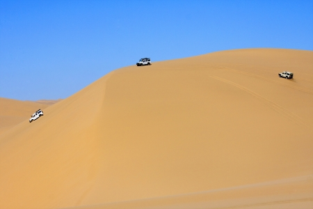 Dune bashing on the Namib Desert, Namibia  photo
