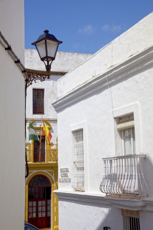 Center of the traditional white village of Vejer de la Frontera, Spain  photo