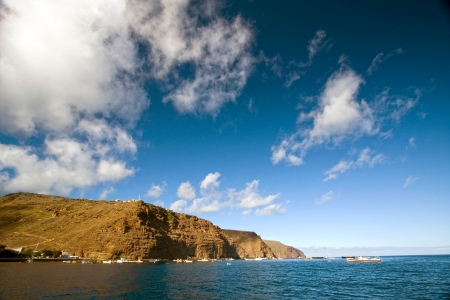 Coastline of St Helena from James Bay outside Jamestown, St Helena