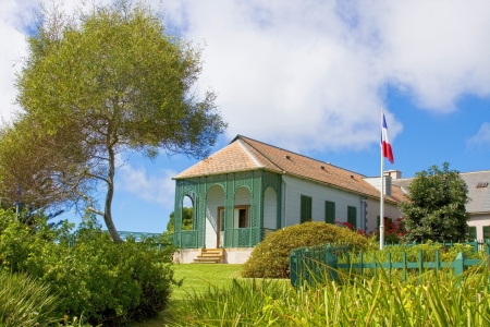 exile: Longwood House which was the residence of Napoleon during his exile to St Helena