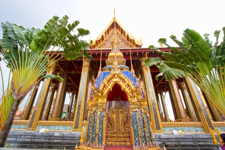 buddhist temple roof: Part of the Thai Grand Palace, Bangkok, Thailand  Stock Photo