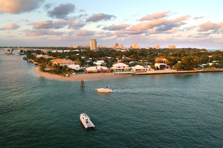 Beaches   skyline of the waterfront of Fort Lauderdale, Florida, USA photo