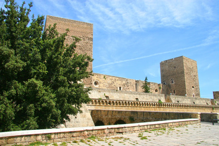 norman castle: Swabian Castle or Castello Svevo,  Norman-Hohenstaufen Castle , Bari, Apulia, Italy Editorial