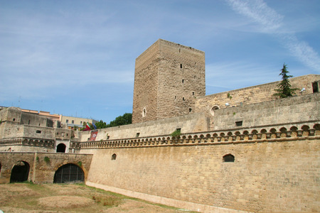 swabian: Swabian Castle or Castello Svevo,  Norman-Hohenstaufen Castle , Bari, Apulia, Italy Editorial