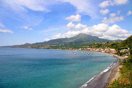 martinique: Coastine de la isla caribe�a de Martinica, franc�s, Francia Foto de archivo