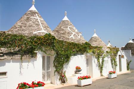 Truli houses in the center of Alberobello, Puglia, Italy