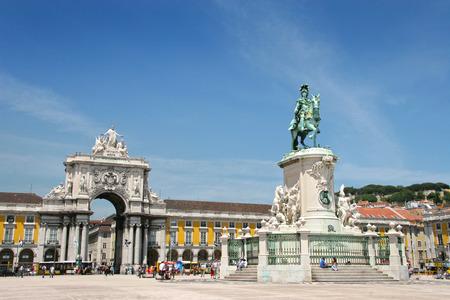 Praca do Comercio (or Commerce Square), Lisbon, Portugal.