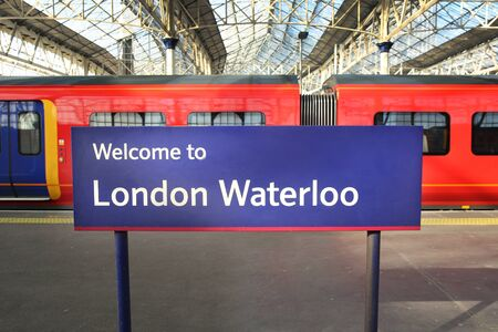 London Waterloo station with some trains in the background, England. 写真素材