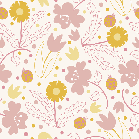 Seamless floral pattern. Illustration