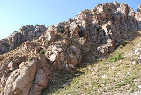tien shan: Ridge in the Tien Shan mountains. Uzbekistan Stock Photo