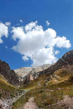 Clouds over the mountains of Uzbekistan