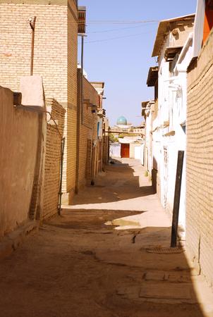 uzbekistan: Ancient brick street in Uzbekistan