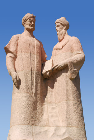 Denkmal für Alisher Navoi und Jami Abdurakhman in Samarkand