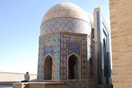 octogonal: The octagonal mausoleum (Sakkiz Qirrali Maqbara) in the complex of Shahi Zinda