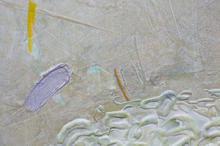 Silvery and purple paint smears Reklamní fotografie