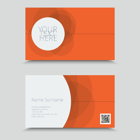 Visit Card With QR Code. Business Card Design.