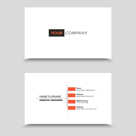 light shadow: Clean Visit Card Design with light shadow. Illustration