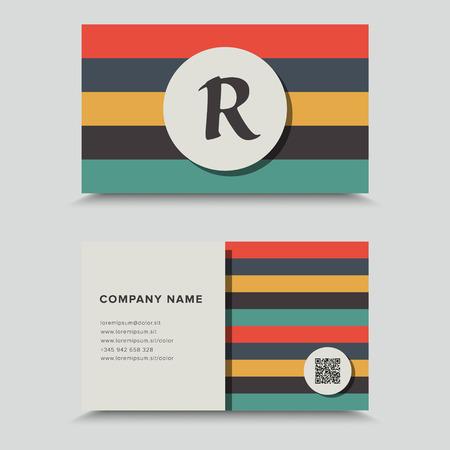 bum: Visit Card With QR Code. Business Card Design.