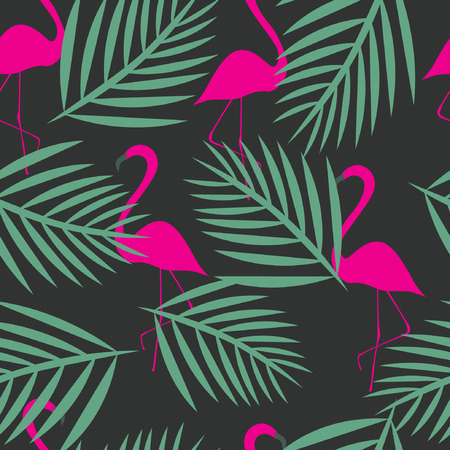 decorative pattern: seamless flamingo vector patterns