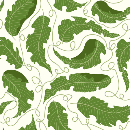 Tropical palm leaves seamless pattern. Pattern with tropical jungle plant. Tropical pattern. Illustration