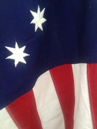 Vintage hand sewn 76er American flag from the  Civil War era