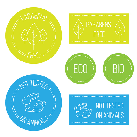 모던 라인 최소 힙 스터 배지 : 동물, 무료 파라벤, 파라벤 테스트를 거치지 않았습니다. 동물 시험을 거치지 않은 화장품 용 원형 엠블럼