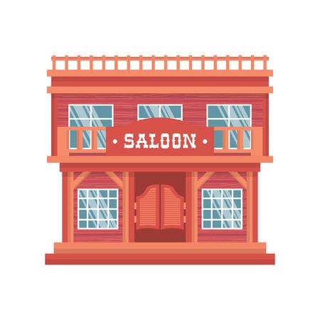 abriendo puerta: Puertas del Salón occidentales. Aislado salvaje oeste barra de madera sobre fondo blanco. casa de vaquero tradicional vendimia en América. Vectores