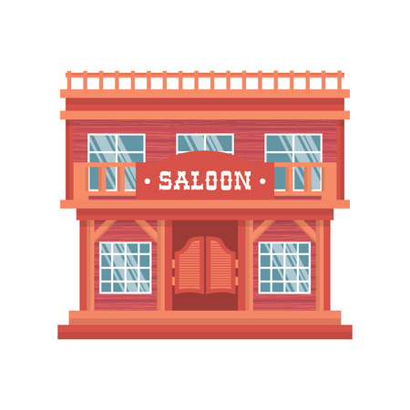 cartoon door: Western saloon doors. Isolated wild west wooden bar on white background. Vintage traditional cowboy house in America.