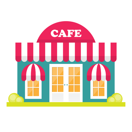store front: Store front window concept. City shop icon. Street small business Illustration