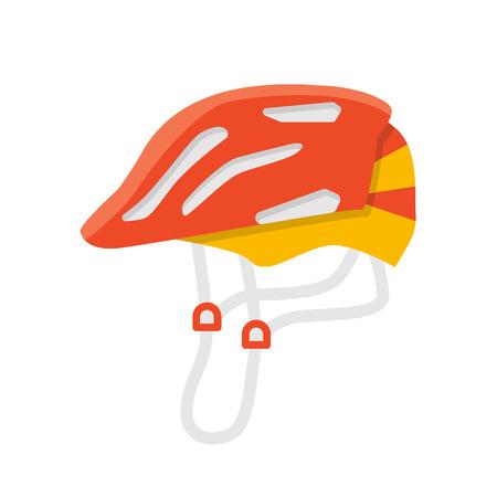 ヘルメットはベクトル分離のイラストです。保護アクセサリー。自転車とスケートのヘルメット。極端な色の保護。フラット夏のレジャー設備。ヘ