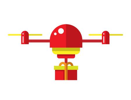 ドローン ベクトルのアイコンを設定します。ベクトルのドローン。ヘリコプターのイラスト。空気の無人偵察機。フラットのドローン。現在のドロ