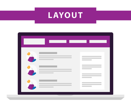 シンプルなフラット ウェブサイト テンプレートのセット。Web ワイヤ フレーム ベクトル。Ux インタ フェース ページのデザイン。試作例。ノート パ