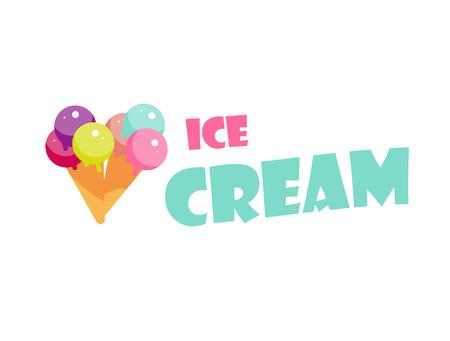 ヴィンテージとモダンなアイス クリーム ショップ バッジとラベルのセット