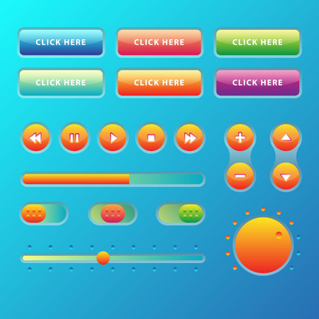 Web UI UX Music Elements Design set